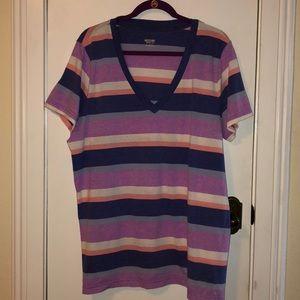 Mossimo size 3X purple striped tee shirt